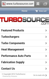 TurboSource Mobile Site